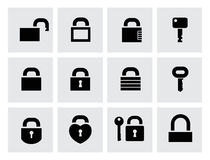 Locks Icons Stock Photo
