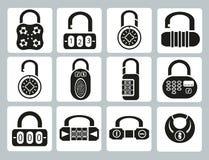 Locks icons Stock Photography