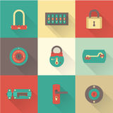 Locks icons Stock Photography
