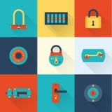 Locks icons Stock Photos