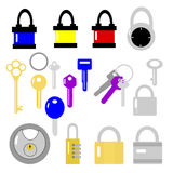 Locks and Keys Royalty Free Stock Photos