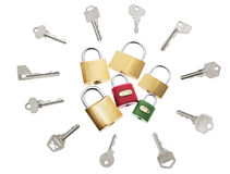 Locks and Keys Stock Image