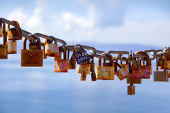 Locks left by lovers Stock Images