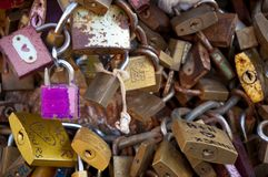 LOCKS OF LOVE Stock Photo