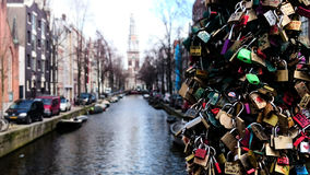 Locks of Love. Amsterdam Love Locks Stock Photography