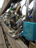 Locks of Love on a Bridge Royalty Free Stock Photo