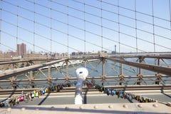 Locks of love Brooklyn Bridge Stock Photo