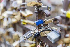 The locks of love hung for the fence.Italy Stock Photo