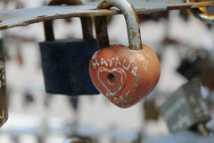 Locks of love Royalty Free Stock Photography