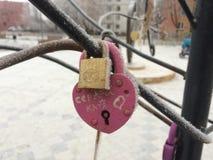 Locks love Stock Photography