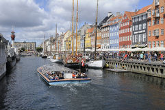 LOCKS OF LOVE_NYHAVN CANAL COPENHAGEN_DENMARK Royalty Free Stock Photography