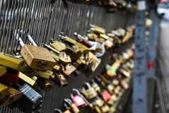 Locks of love in Paris stock image