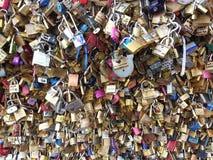 Locks of love in Paris Stock Images