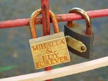 Locks of love Stock Image