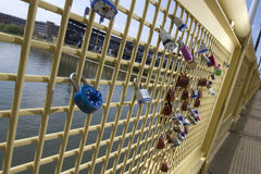 Locks of Love, Roberto Clemente Bridge Royalty Free Stock Image