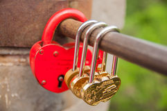 Locks and lover at Great Wall. 24 May 2013 at Great Wall of China,lovers like to lock bar for forever love Royalty Free Stock Photography