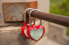 Locks and lover at Great Wall. 24 May 2013 at Great Wall of China,lovers like to lock bar for forever love Stock Image
