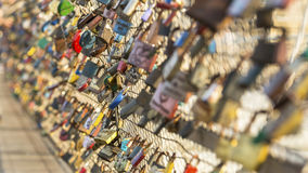 Locks Lovers on the Bridge. Royalty Free Stock Photography