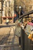 Locks of lovers Royalty Free Stock Photo