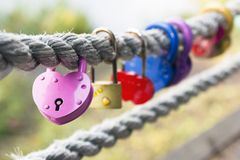 Locks of lovers stock images