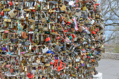 Locks for luck in Odessa Royalty Free Stock Photo
