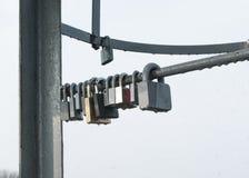 Locks mounted Stock Image