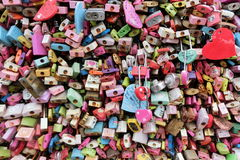 Locks at N Tower of Seoul Stock Photos