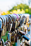 Locks. A lot of locks in a special place Stock Photos