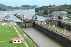 Locks. The Panama Canal's Miraflores Locks royalty free stock photos