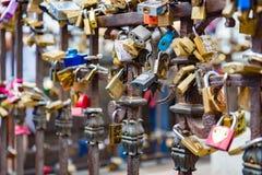 Locks at Ponte Vecchio, Florence, Italy Stock Photography