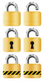 Locks. Set locks isolated on white Royalty Free Stock Photo