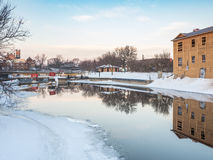 The Locks At Sunrise. Lindsay Ontario royalty free stock images