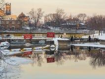 The Locks At Sunrise Stock Photo
