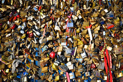 Locks Symbolizing Forever Love Stock Photo