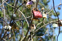 1- Locks, symbolizing lovers in their loyalty. stock image