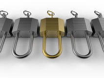Locks target in crowd concept Stock Image