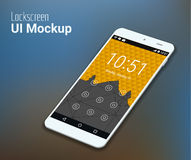 Lockscreen mobile UI smartphone mockup Royalty Free Stock Photo