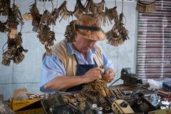 Locksmith El Rastro и его инструменты Стоковое фото RF