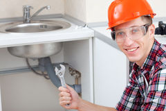 Locksmith plumber Stock Photography
