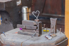 Locksmith's workshop, smithy Royalty Free Stock Photos