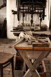 Locksmiths workbench Stock Photo
