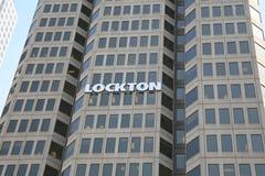 LocktonVerzekeringsmaatschappij Stock Foto's