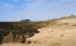 locmariaquer brittany bike пляжа Стоковая Фотография RF