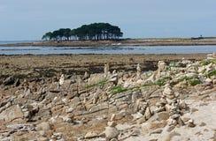 Locmariaquer-Küste in Morbihan Stockbilder