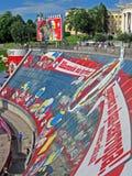 Loco del balompié, unido a la zona de la diversión, Kiev, Imagenes de archivo