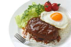 Loco moco , hawaiian cuisine Royalty Free Stock Photos