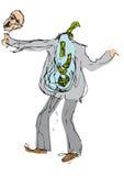 Loco para el dinero (vector) Imagen de archivo