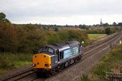 Loco on route to depot Royalty Free Stock Photos