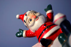 Loco Santa 6. Antique Santa In Flight Royalty Free Stock Photography