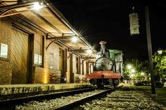 Locomotief bij de post Royalty-vrije Stock Foto